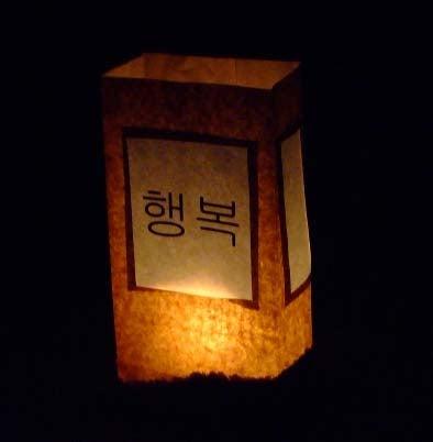 Korean Character Paper Luminaries