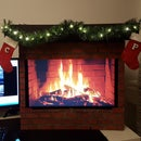Computer Monitor Fireplace