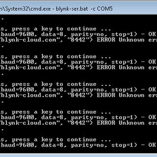 Control  Arduino  Using Blynk Via Usb