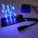3x3x3 Binary Counter LED Cube