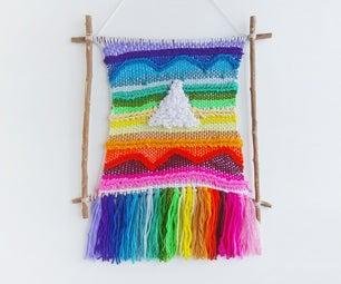 DIY Tapestry Weaving on Twig Frame
