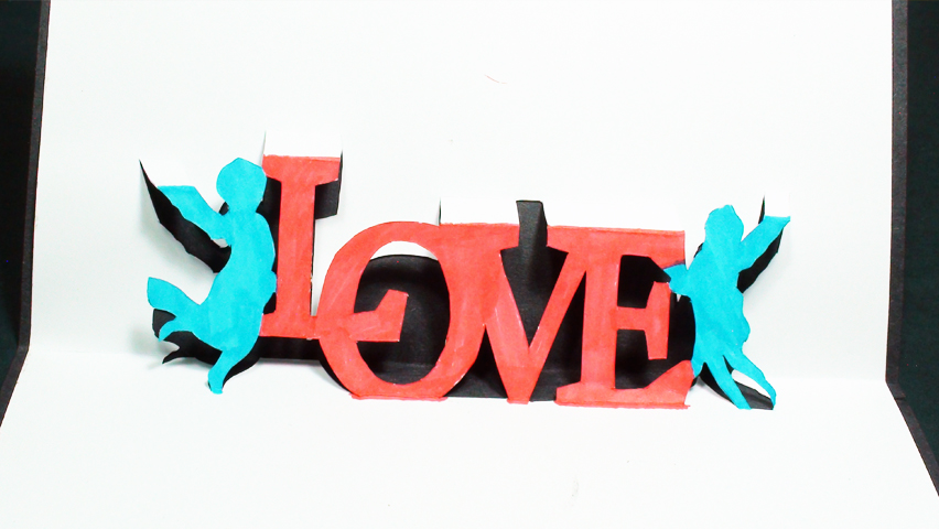 How to make an Angels Love Pop Up Card (Kirigami 3D) Valentines Day Greetings!