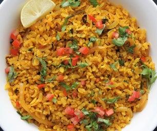 Poha   (15-minute Vegan Indian Recipe)