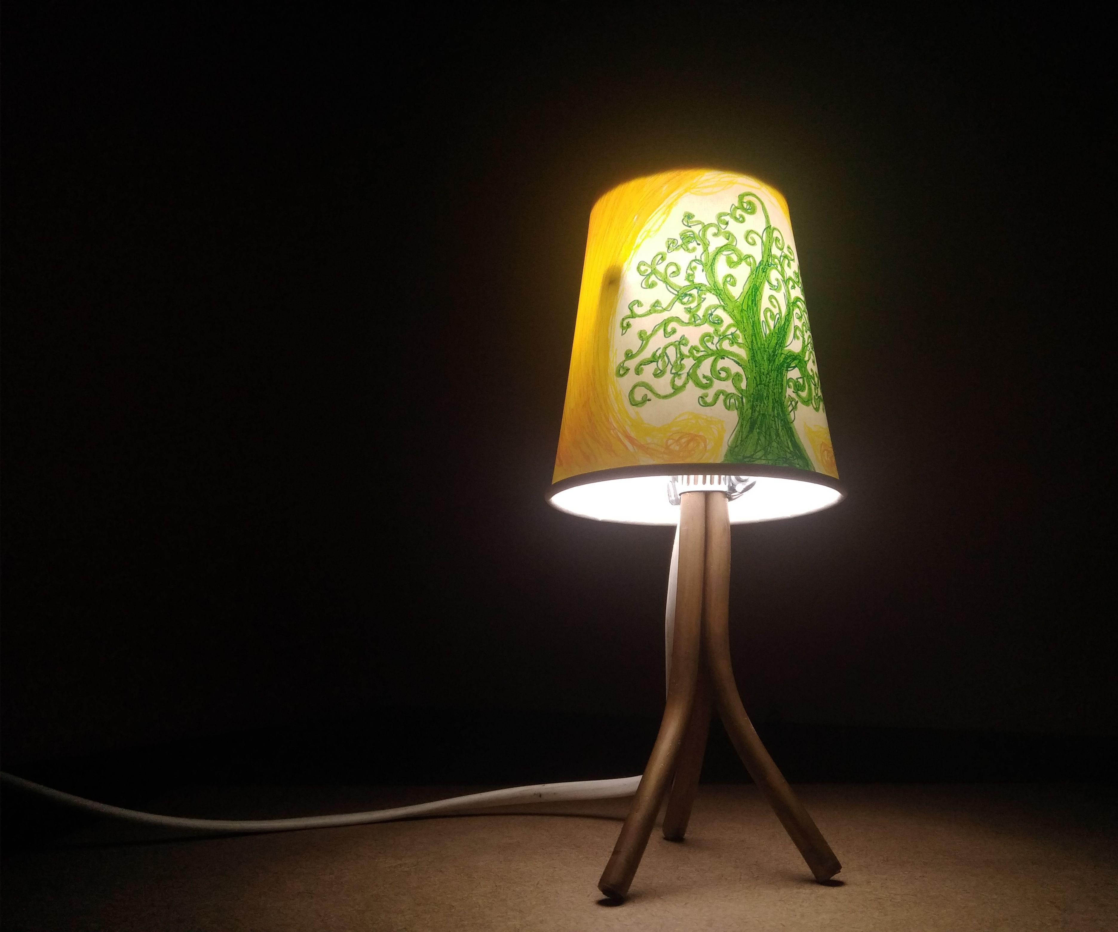 Mini Paper-cup Tripod Lamps