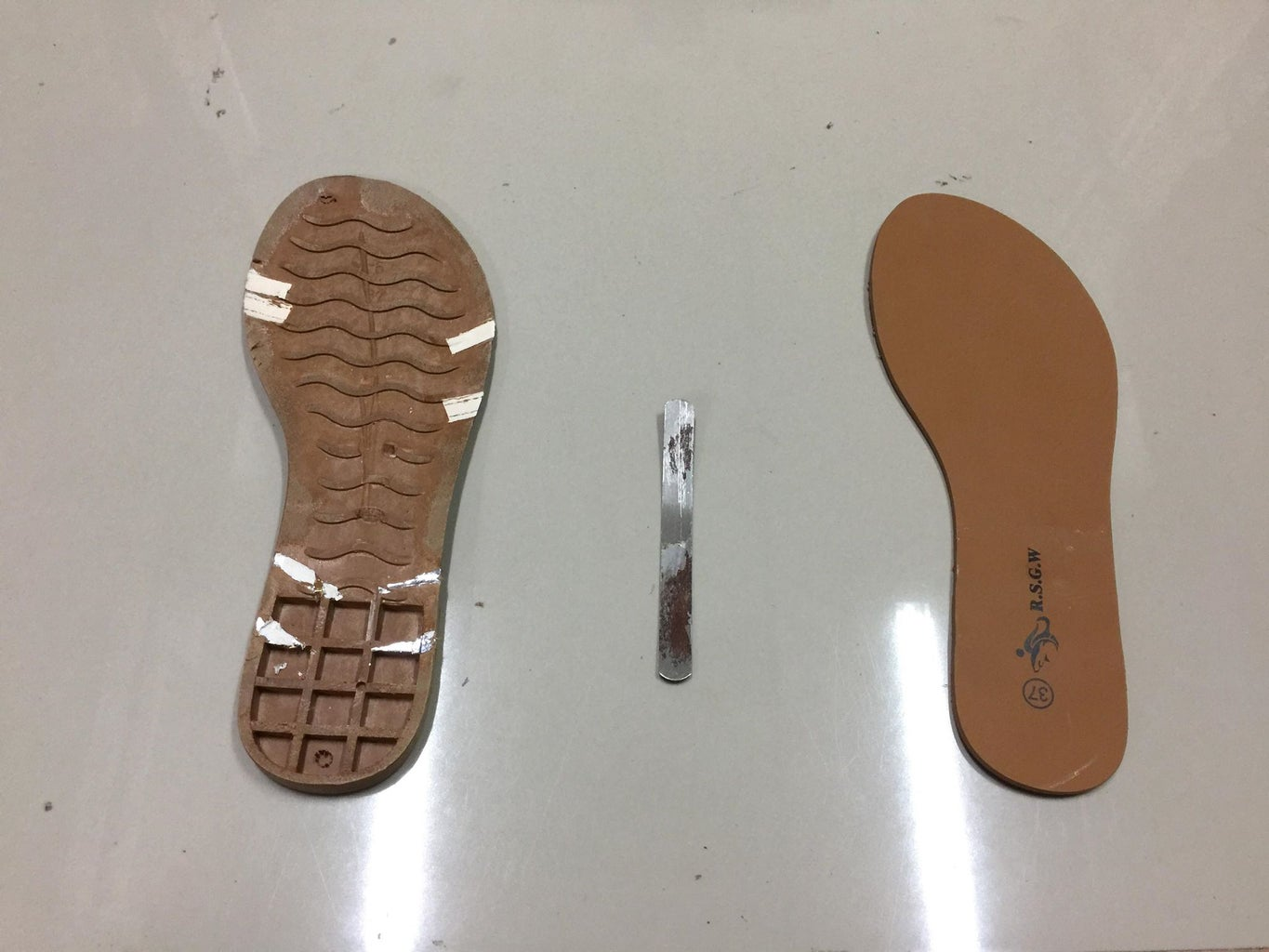 Step 1: Taking Apart Your Sandals