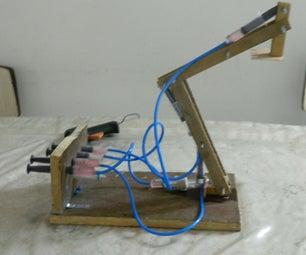 Hydraulic Arm From Syringes
