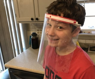Simple Face Shield Using a Binder Sleeve