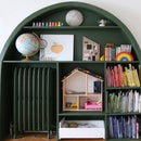 Arched Built-In Bookcase