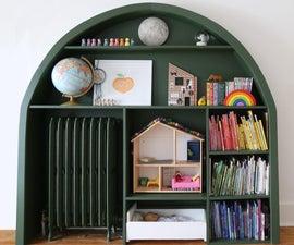 拱形内置书架