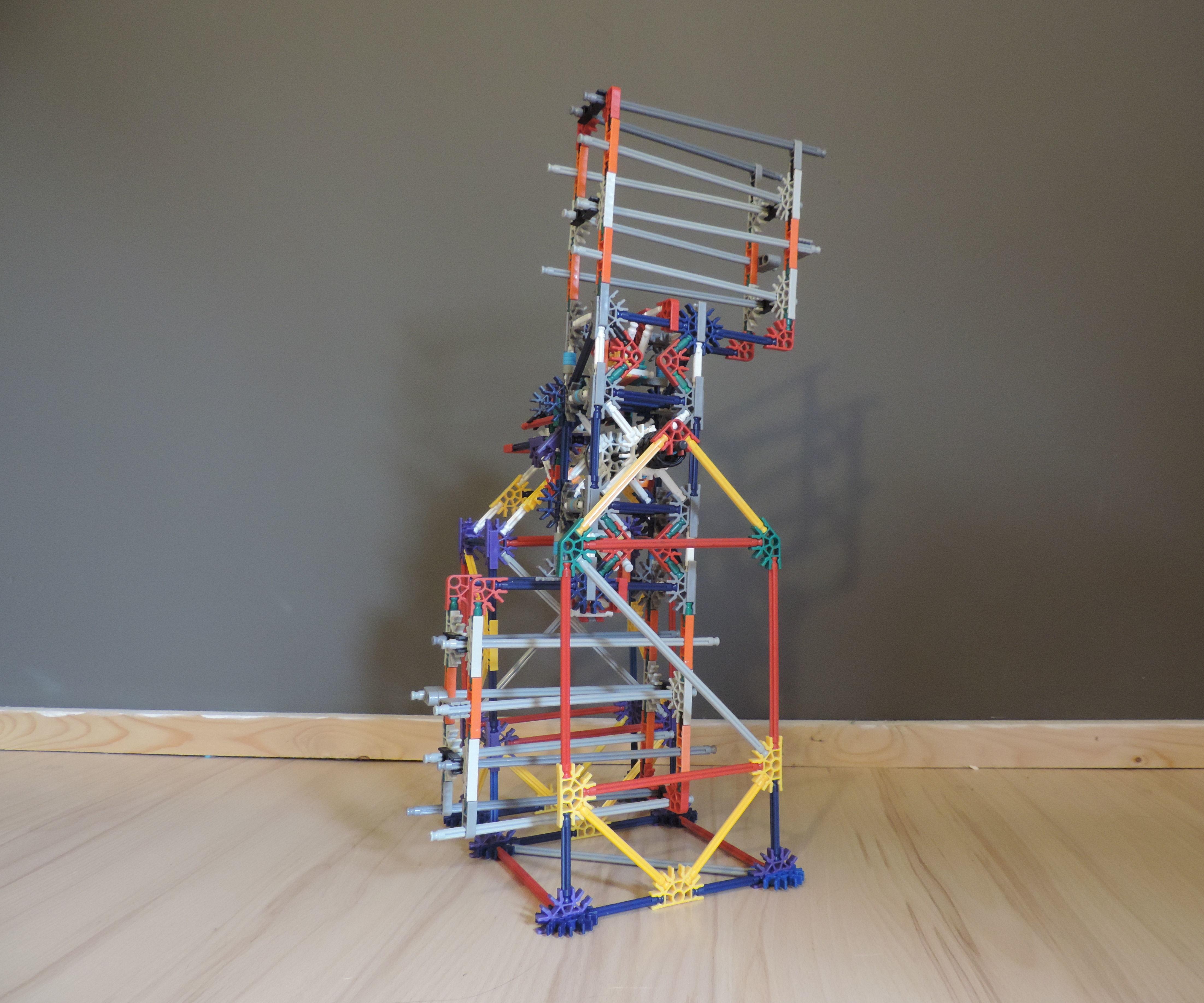 Knex Ball Machine Element: Turning Zig Zags