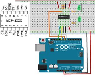 Digital Potentiomter MCP42100 With Arduino