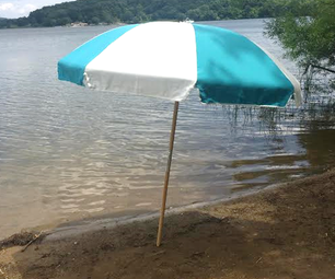 How to Install a Wooden Pole Beach Umbrella