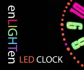 Web连接的智能LED动画时钟,带基于Web的控制面板,时间服务器同步