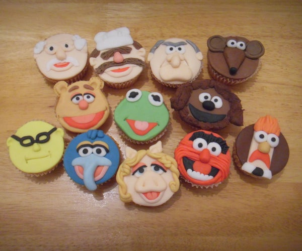 Muppet Face Cup Cakes