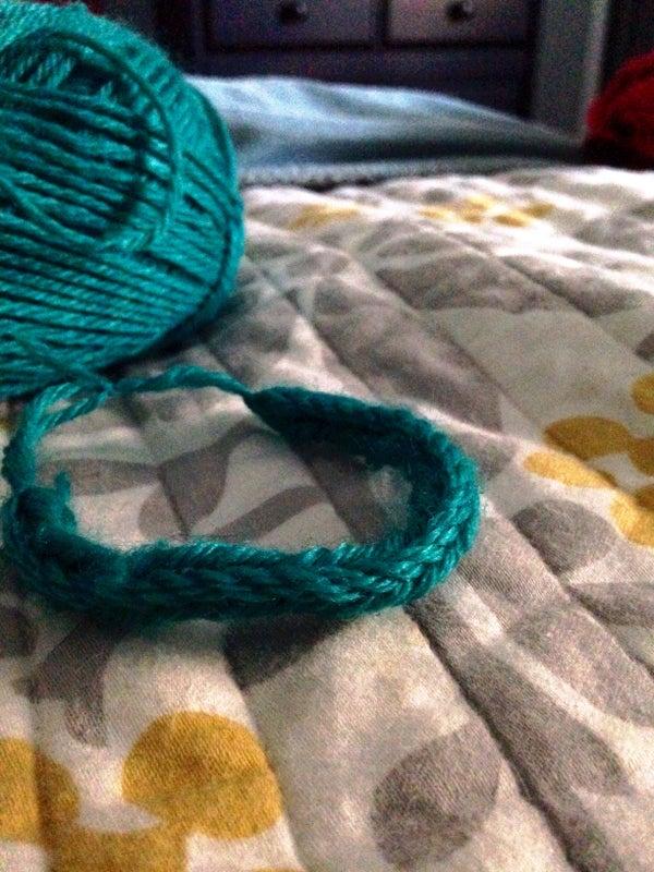 Yarn Fishtail Bracelet