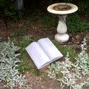 Faux Cement Garden Memorial
