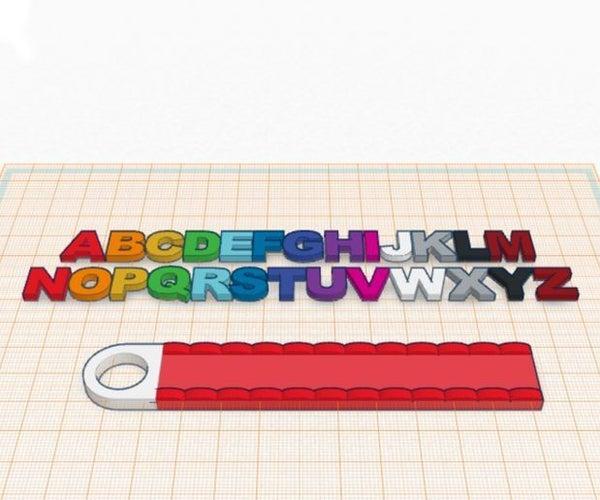 Schlüsselanhänger Mit Buchstaben