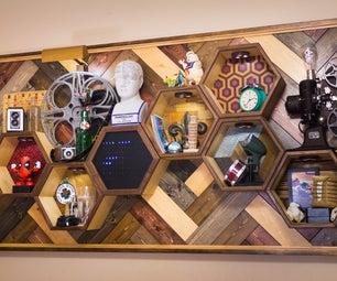 Word Clock in Hexagon Shelves