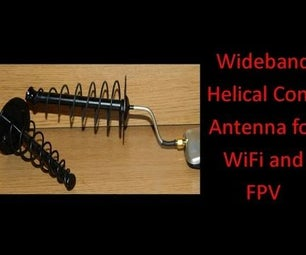 Wideband Spiral Helical Cone Antenna for WiFi and FPV