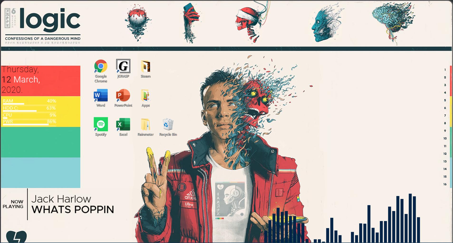 Customize Windows Background With Rainmeter