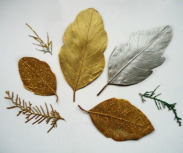 Glittery Dried Leaves
