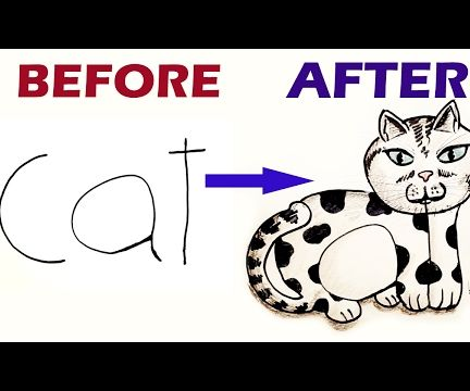 How to Draw a Cat From the Word Cat