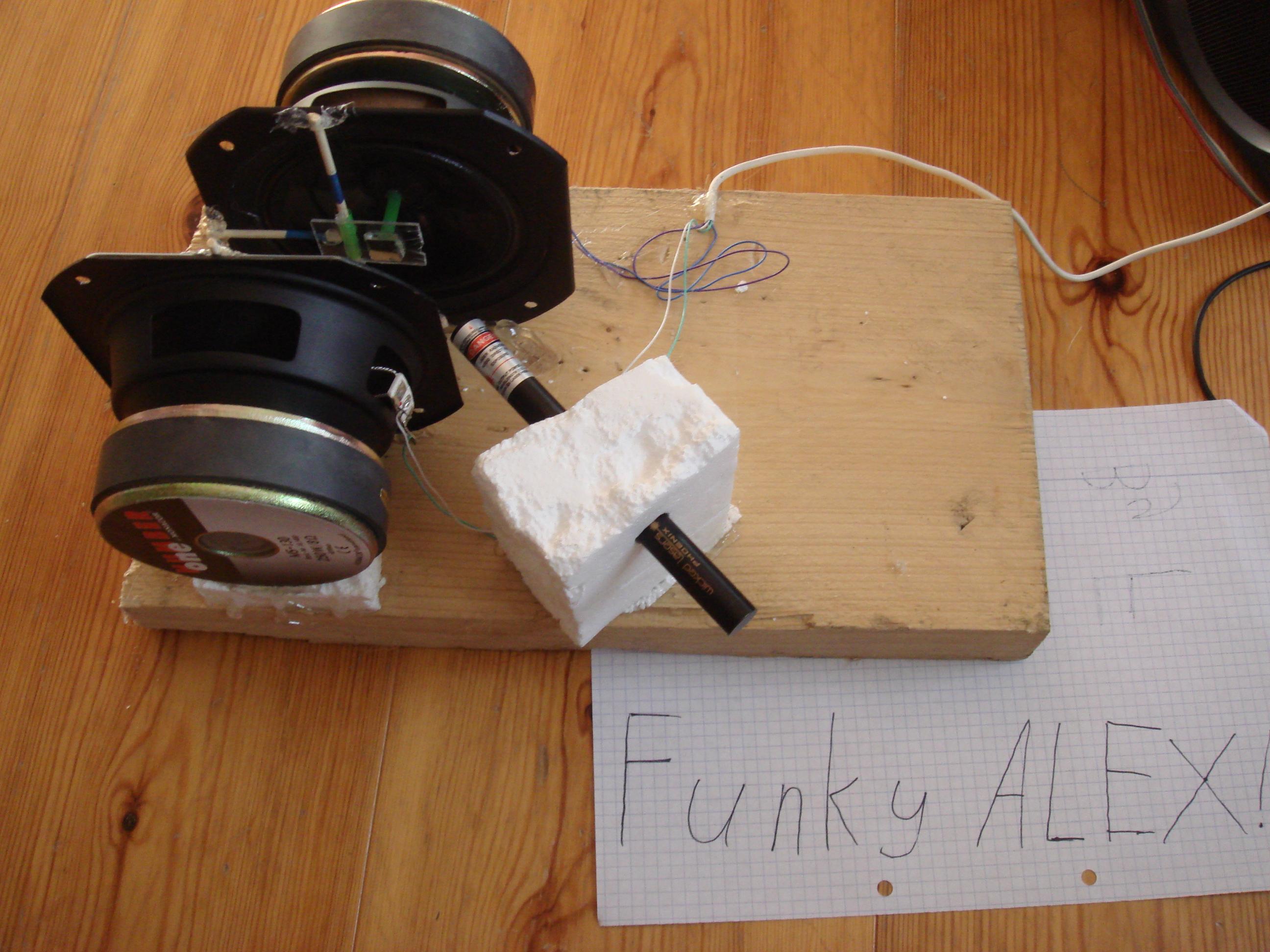 X Y speaker laser-show