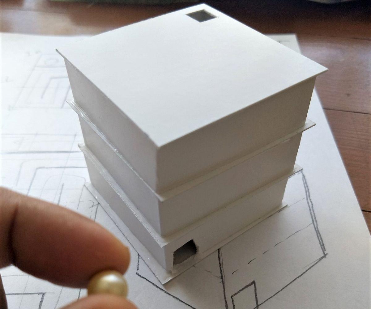 Paper 3d Labyrinth Puzzle