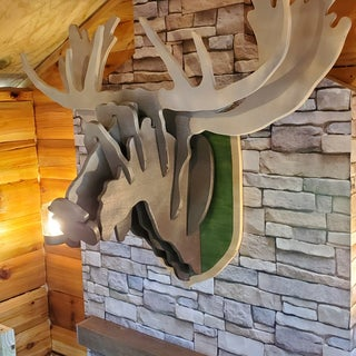 Cardboard Box Moose Head Wall Hanging