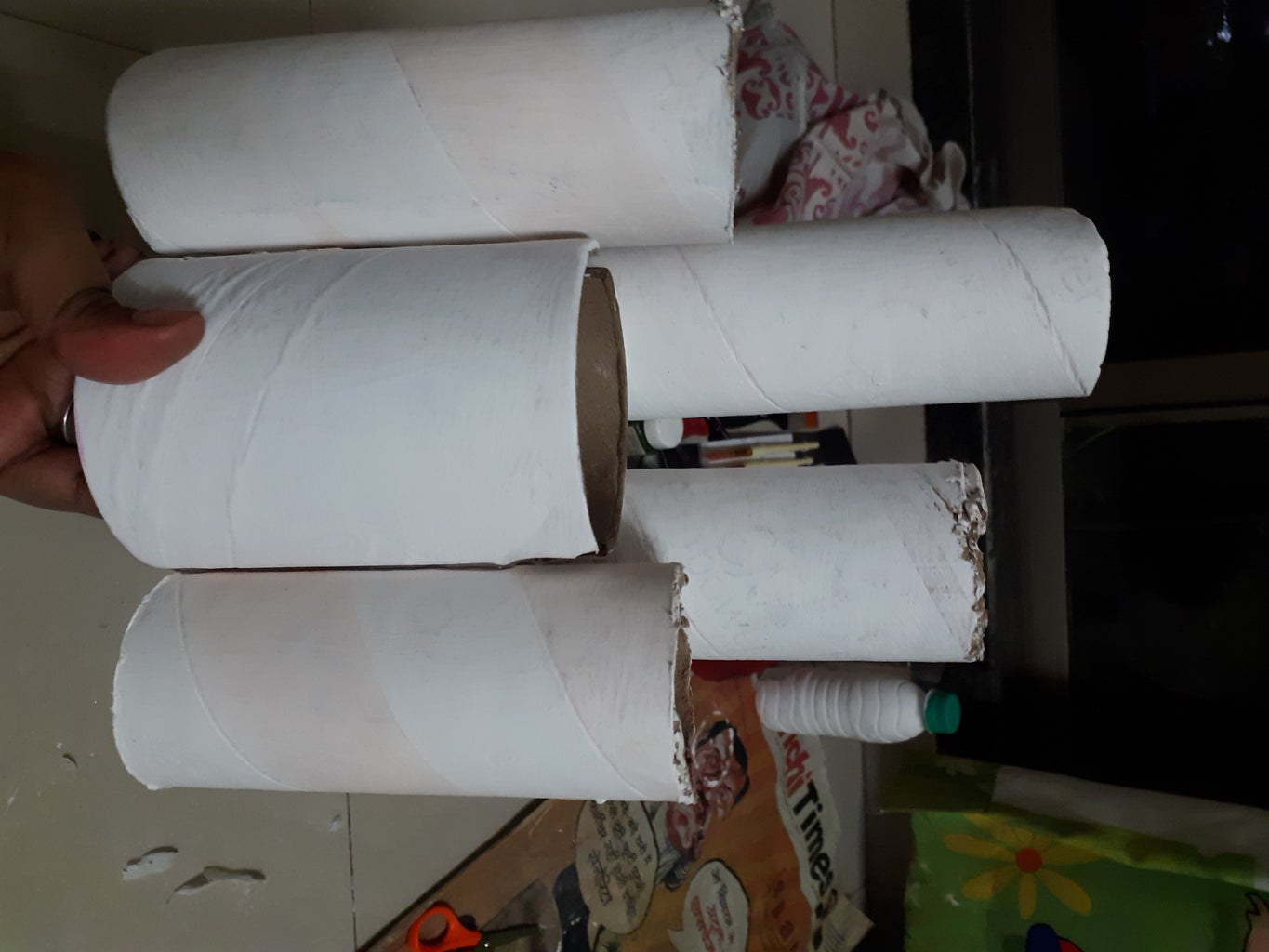 Making of Castle - Using Paper Roll