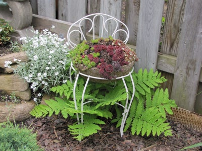 Hypertufa 'Seat Cushion' Planter
