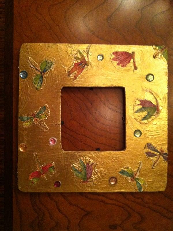 Decoupage Napkin Frames
