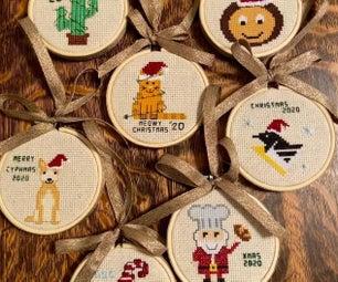 Personalized Cross Stitch Ornaments