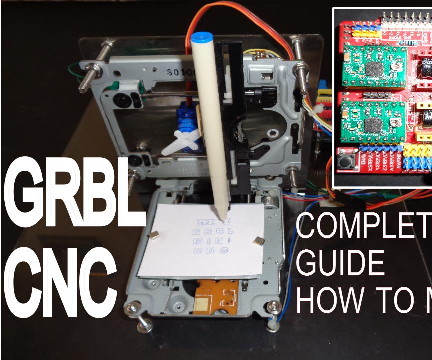 How to Make GRBL + CNC V3 Shield Based Mini CNC Machine from scrap DVD drive