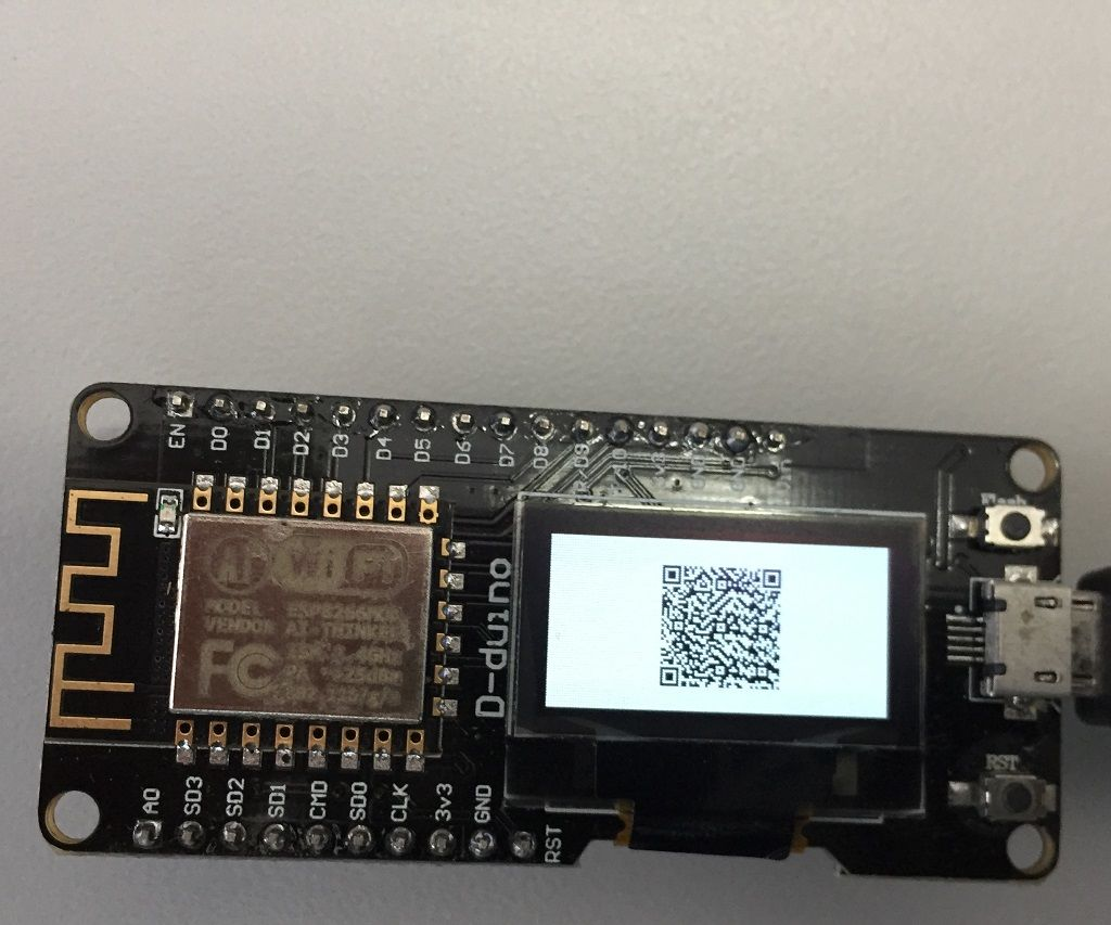 D-duino QR code display