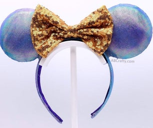 Iridescent Light Up Mickey Mouse Ears