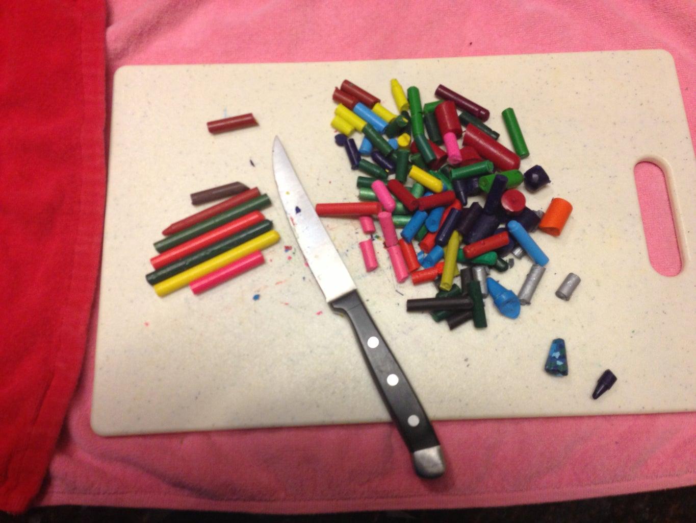Chop the Crayons Into Smaller Pieces