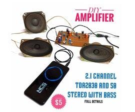DIY 2.1 Class AB Hi-Fi Audio Amplifier - Under $5