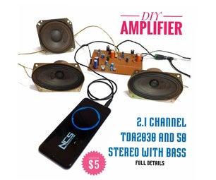 DIY 2.1类AB高保真音频放大器 - 低于5美元