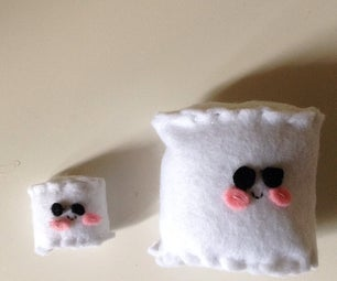 Kawaii Felt Marshmallows Plushies