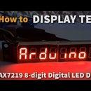 Arduino Display Text on MAX7219 8-digit LED Display