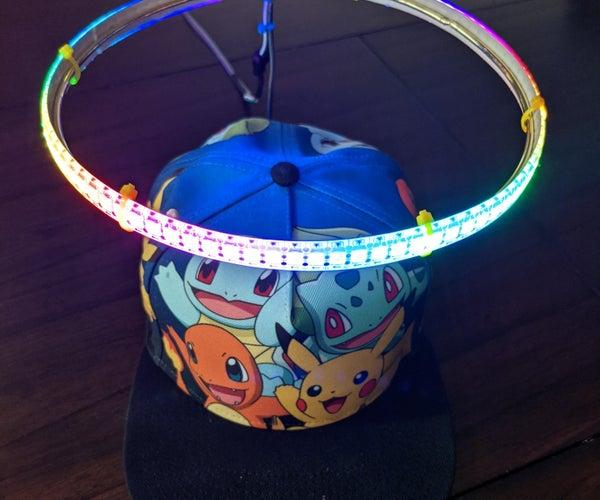 Sound Reactive LED Angelic Halo Hat