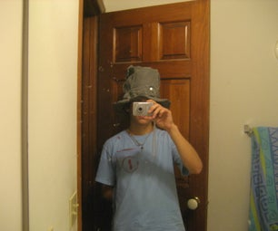 Green Denim Top Hat