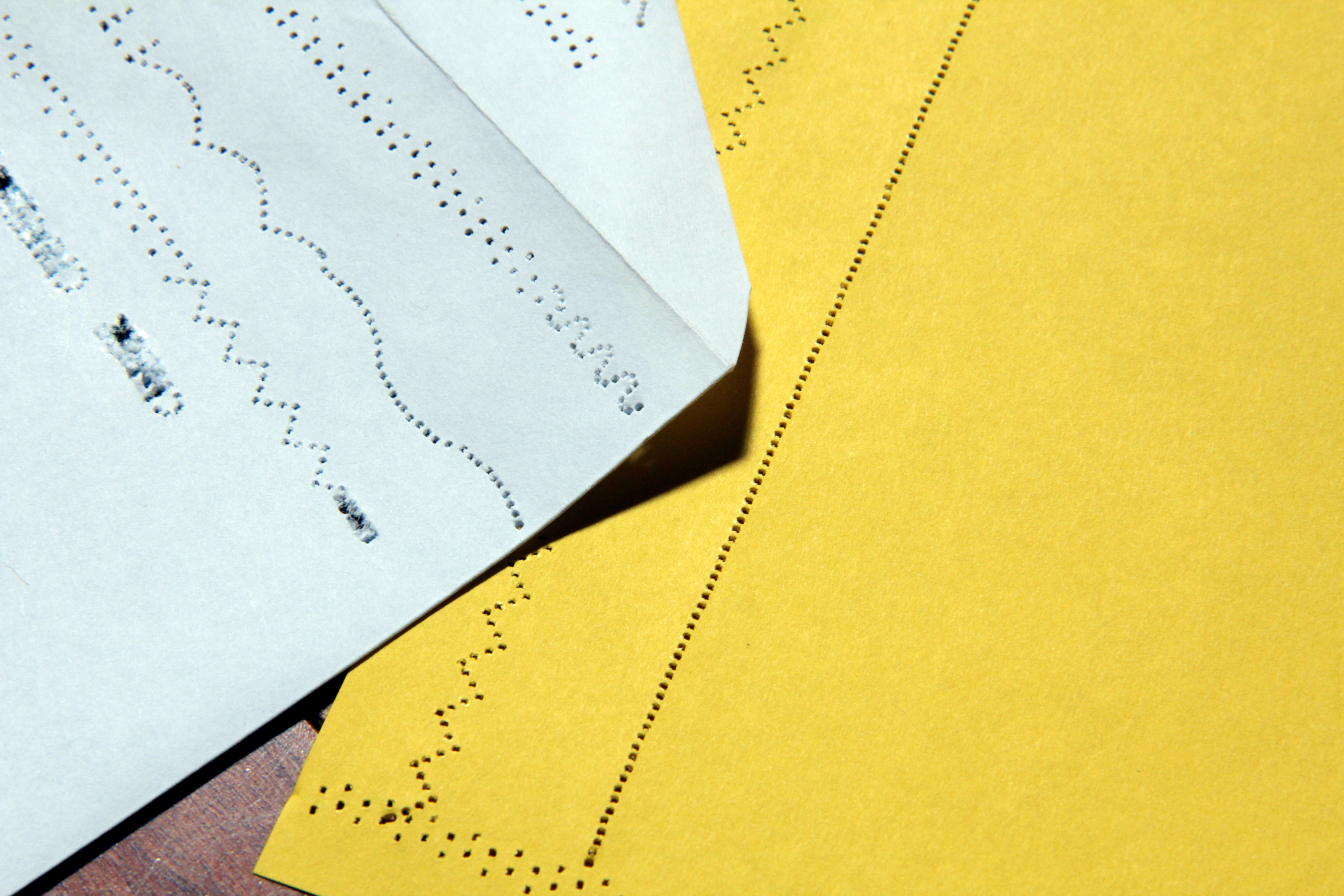 Fancy Paper Perforations with a Sewing Machine