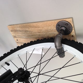 Reclaimed Wood and Pipe Bike Hangers