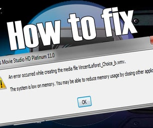 How to Fix Sony Vegas (not Enough Memory) WORKS ON ALL VERSIONS