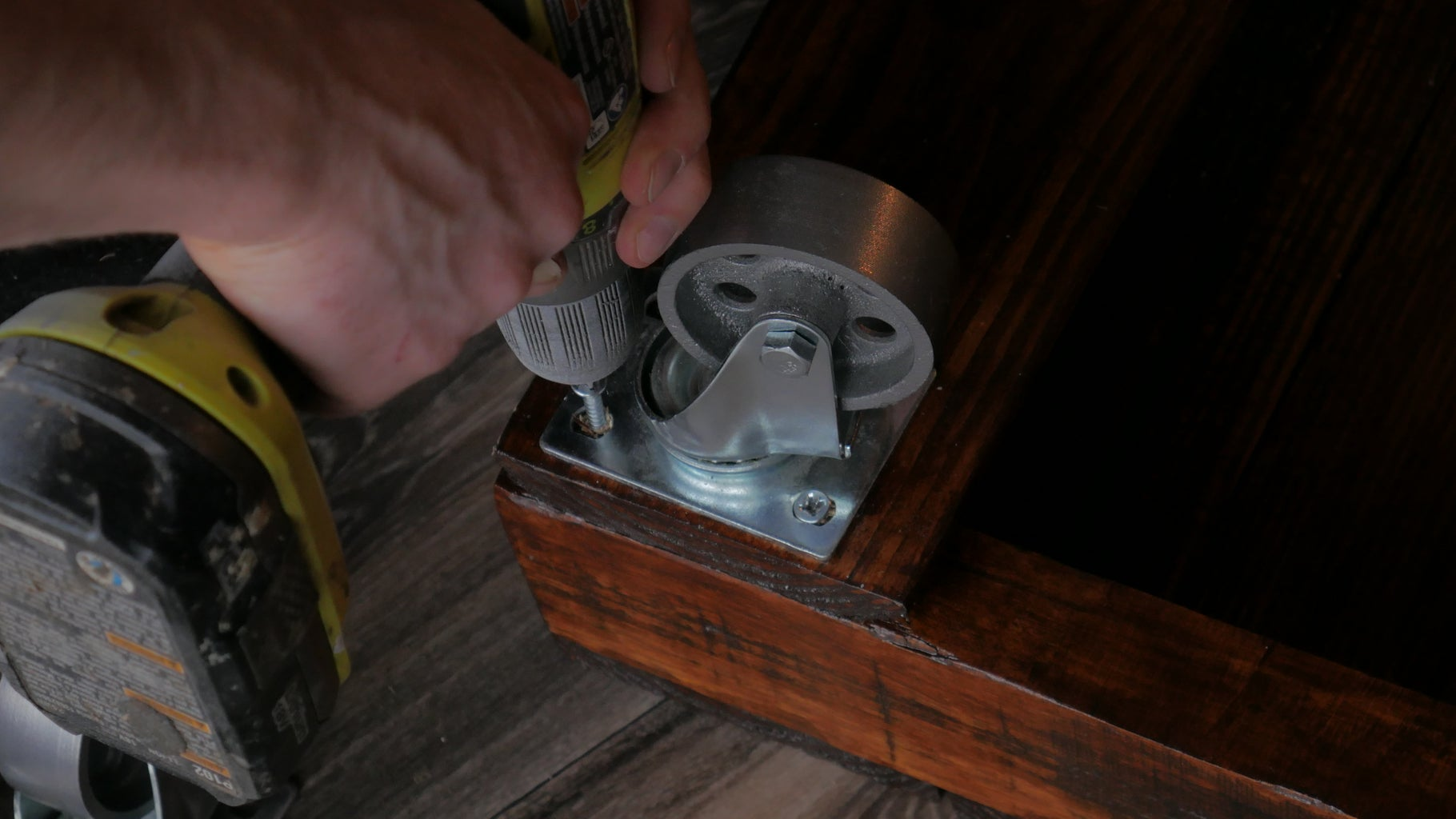 Adding the Caster Wheels