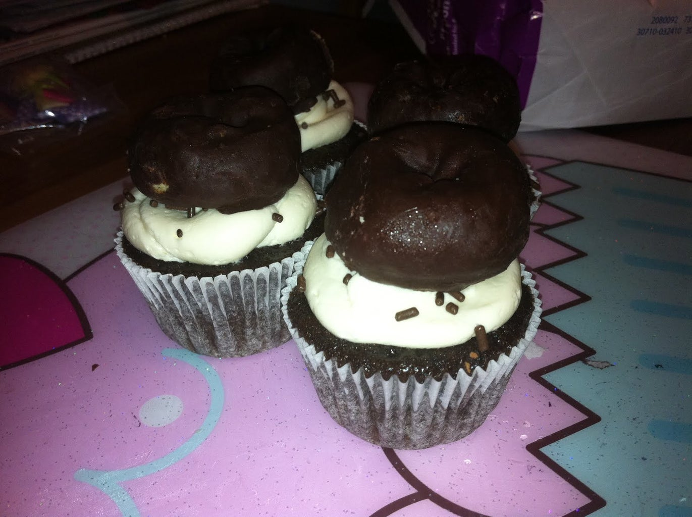 Chocolate Covered Donut Cupcakes