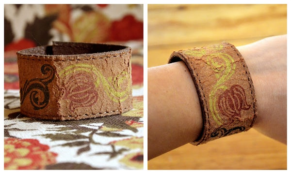 Make a Leather Cuff Bracelet From an Old Belt