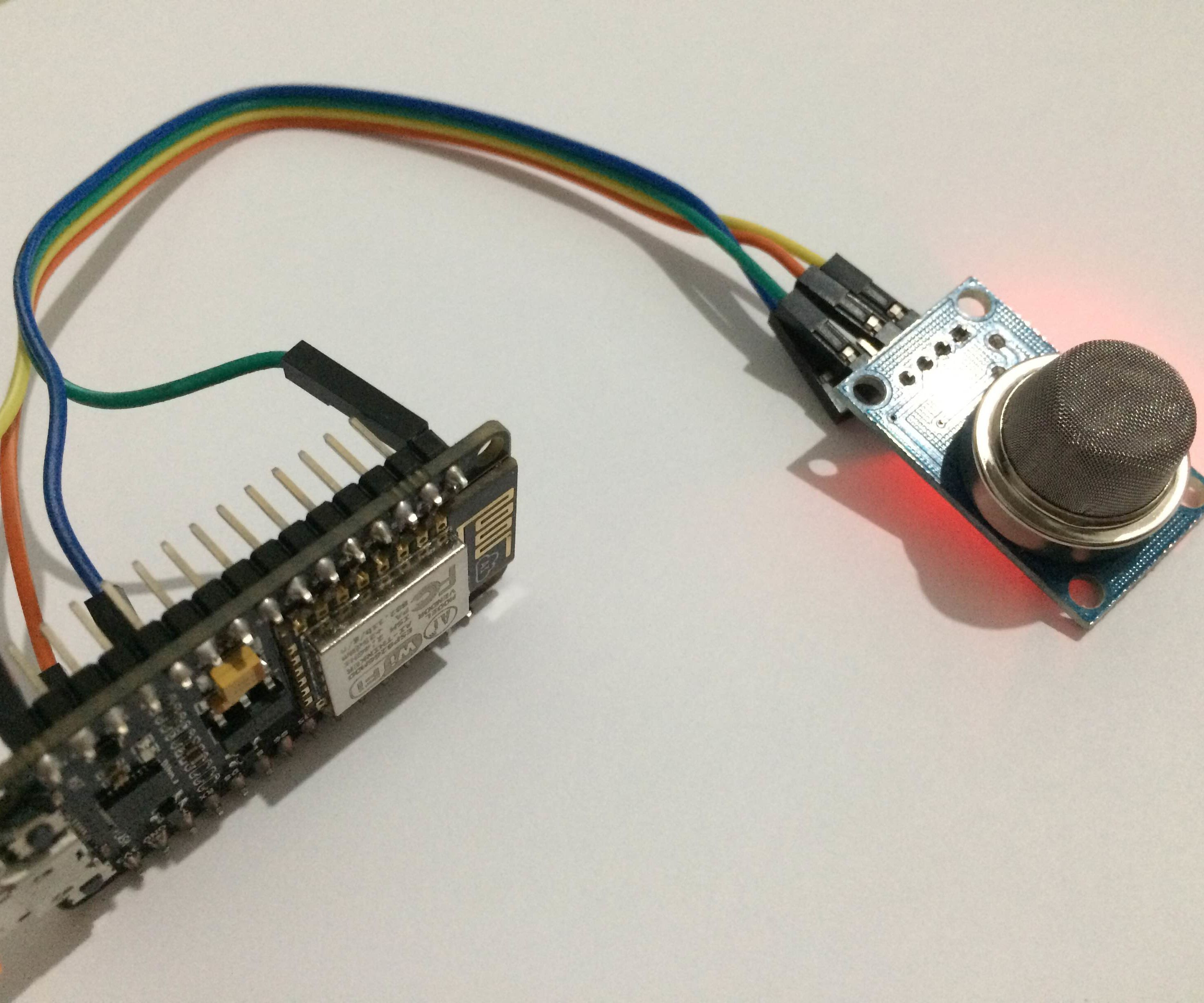 Easy Air Quality Report With NodeMCU+MQ135+Cayenne